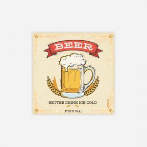 íman azulejo cerveja